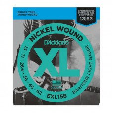 Струны для электрогитары D'Addario EXL158 Xl Baritone Light 13-62