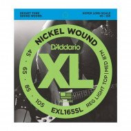 D'Addario EXL165SL XL Reg Light Top Med Bottom 45-105