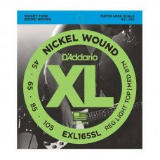 Струны для бас-гитары D'Addario EXL165SL XL Reg Light Top Med Bottom 45-105