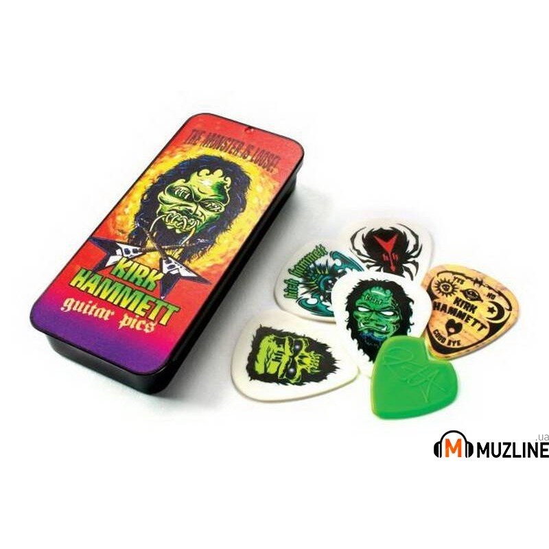 Dunlop KH01T088 Kirk Hammett Signature Pick Tin Monster Loose 0.88