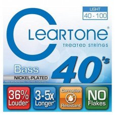 Струны для бас-гитары Cleartone 6440 Bass Nickel-Plated Light 40-100