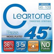 Струны для бас-гитары Cleartone 6445 Bass Nickel-Plated Medium 45-105