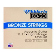D'Addario EJ11 80/20 Bronze Light 12-53
