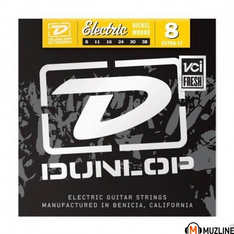 Струны для электрогитары Dunlop DEN0838 Electric Extra Light 8