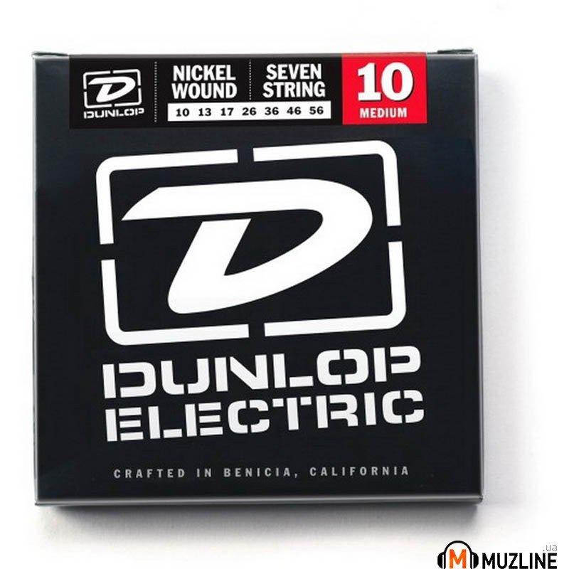 Струны для электрогитары Dunlop DEN1056 Electric Medium 7-String 10
