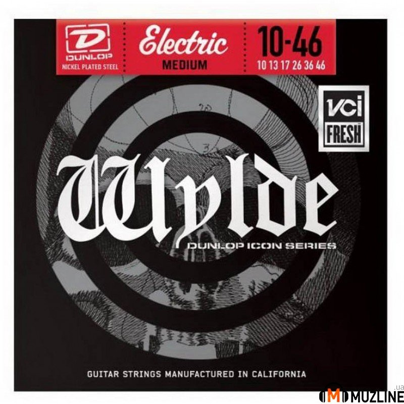Струны для электрогитары Dunlop ZWN1046 Wylde Electric Medium 10-46