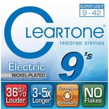 Струны для электрогитары Cleartone 9409 Electric Nickel-Plated Super Light 09-42
