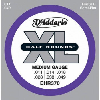 Струны для электрогитары D'Addario EHR370 Xl Half Rounds Medium 11-49