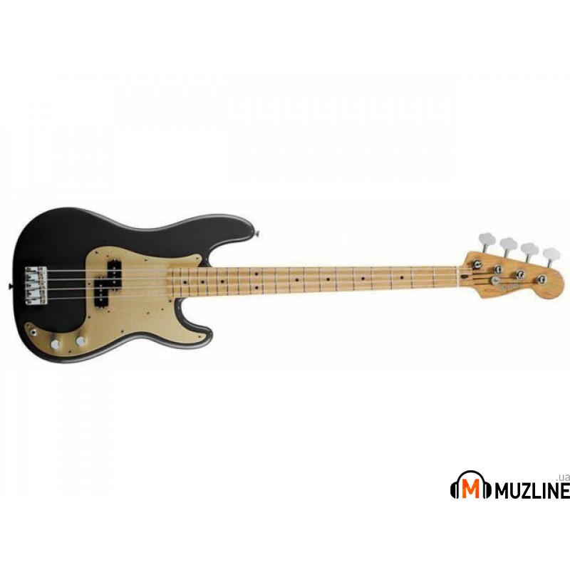 Бас-гитара Fender 50s Precision Bass MN BLK Lacquer