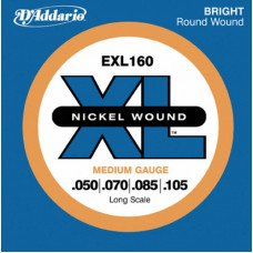 Струны для бас-гитары D'Addario EXL160 XL Medium 50-105