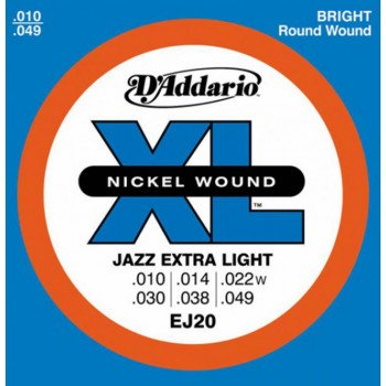 Струны для электрогитары D'Addario EJ20 Xl Jazz Extra Light 10-49