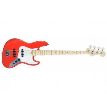 Бас-гитара Fender American Jazz Bass MN Sunset Orange Transparent ASH
