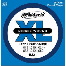 Струны для электрогитары D'Addario EJ21 Xl Jazz Light 12-52