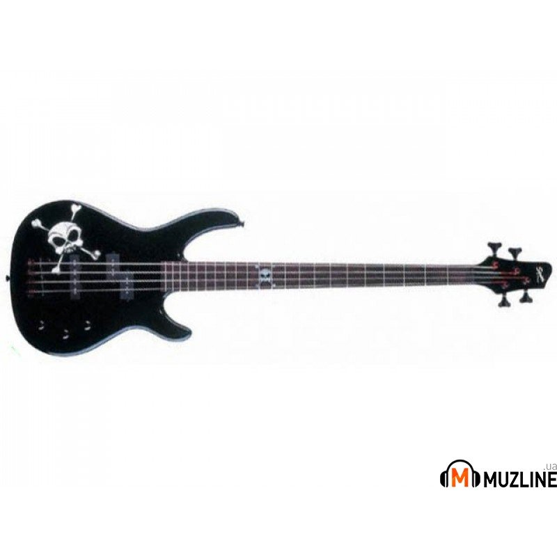 Бас-гитара Fender Squier MB-4 Skull & Cross Bones RW