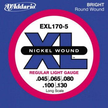 Струны для бас-гитары D'Addario EXL170-5 XL Regular Light 5 String 45-130