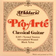 D'Addario EJ49 Pro-Arte Black Treble Normal Tension