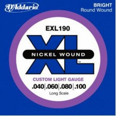 Струны для бас-гитары D'Addario EXL190 XL Custom Light 40-100
