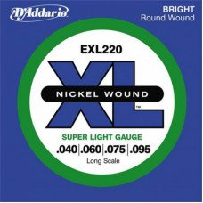 Струны для бас-гитары D'Addario EXL220 XL Super Light 40-95