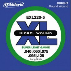 Струны для бас-гитары D'Addario EXL220-5 XL Super Light 5 String 40-125