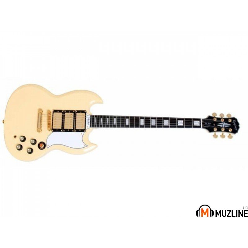 Электрогитара Epiphone G-400 Custom Antique Ivory GLD HDWE