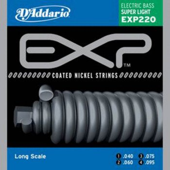 Струны для бас-гитары D'Addario EXP220 EXP Super Light 40-95