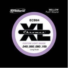 Струны для бас-гитары D'Addario ECB84 XL Chromes Flatwound Bass 40-100
