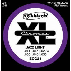 Струны для электрогитары D'Addario ECG24 Xl Chromes Jazz Light 11-50