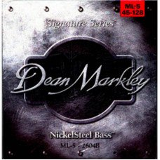 Струны для бас-гитары Dean Markley 2604B Nickelsteel Bass ML5 45-128