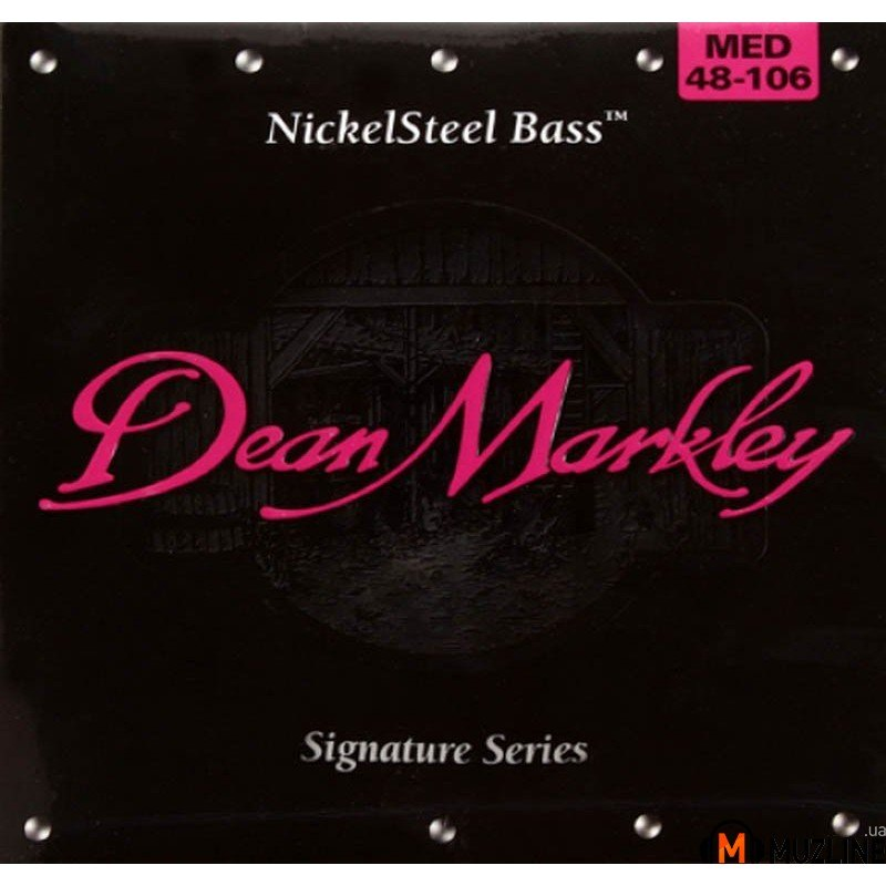 Струны для бас-гитары Dean Markley 2606A Nickelsteel Bass MED4 48-106