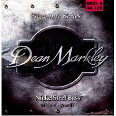 Струны для бас-гитары Dean Markley 2606B Nickelsteel Bass MED5 48-128