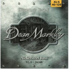 Струны для бас-гитары Dean Markley 2608B Nickelsteel Bass XL5 40-128