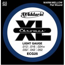 Струны для электрогитары D'Addario ECG25 Xl Xl Chromes Light 12-52