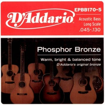 Струны для бас-гитары D'Addario EPBB170-5 Acoustic Bass Phosphor Bronze 5 String