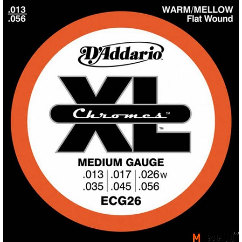 Струны для электрогитары D'Addario ECG26 Xl Xl Chromes Medium 13-56