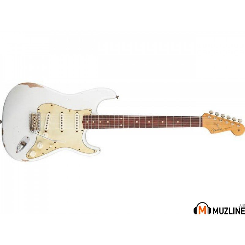 Электрогитара Fender Road Worn '60 Strat Relic RW OLYMPIC WHITE