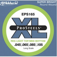 Струны для бас-гитары D'Addario EPS165 XL Pro Steels Reg Light Top Med Bottom 45-105