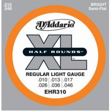 Струны для электрогитары D'Addario EHR310 Xl Half Rounds Regular Light 10-46