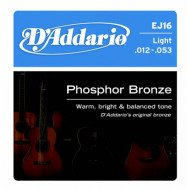 D'Addario EJ16 Phosphor Bronze Light 12-53