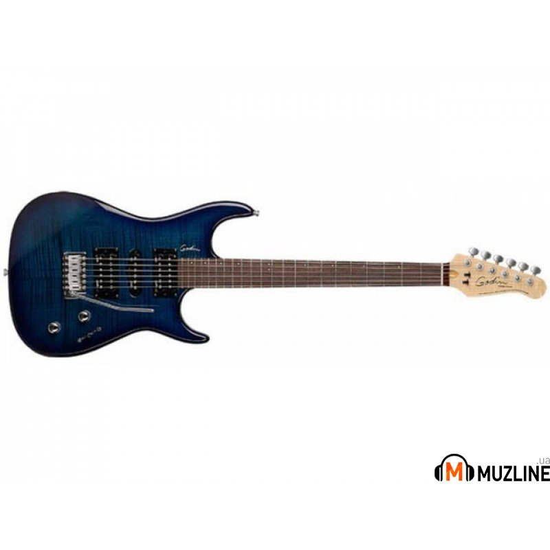 Электрогитара Godin Freeway Classic Trans Blue Flame RN W/Bag