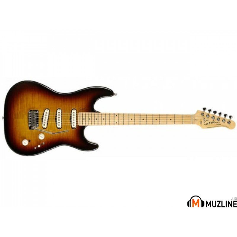 Электрогитара Godin Progression Vintage Burst Flame MN with Bag