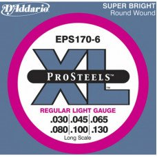 Струны для бас-гитары D'Addario EPS170-6 Pro Steels Light 6 String 30-130