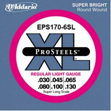 Струны для бас-гитары D'Addario EPS170-6SL Pro Steels Light 6 String 30-130