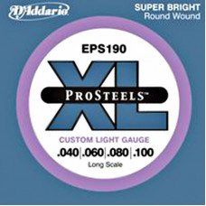 Струны для бас-гитары D'Addario EPS190 XL Pro Steels Custom Light 40-100