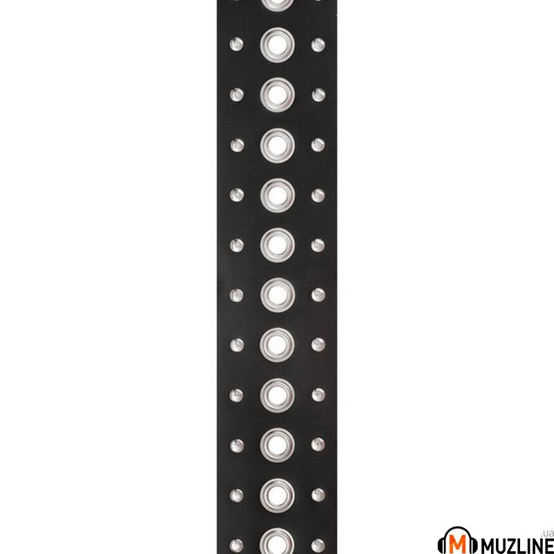 Planet Waves PW25LGS02 Metal Metal Collection Leather Guitar Strap, Grommet 1