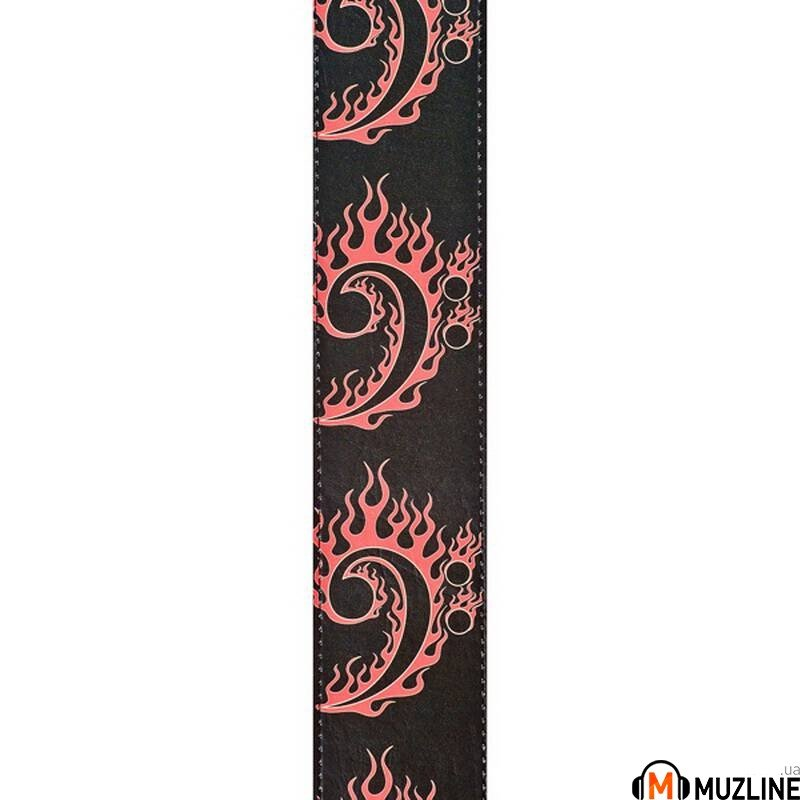 Planet Waves PW25LHR05 Hot Rod Collection Leather Guitar Strap, Bass Clef