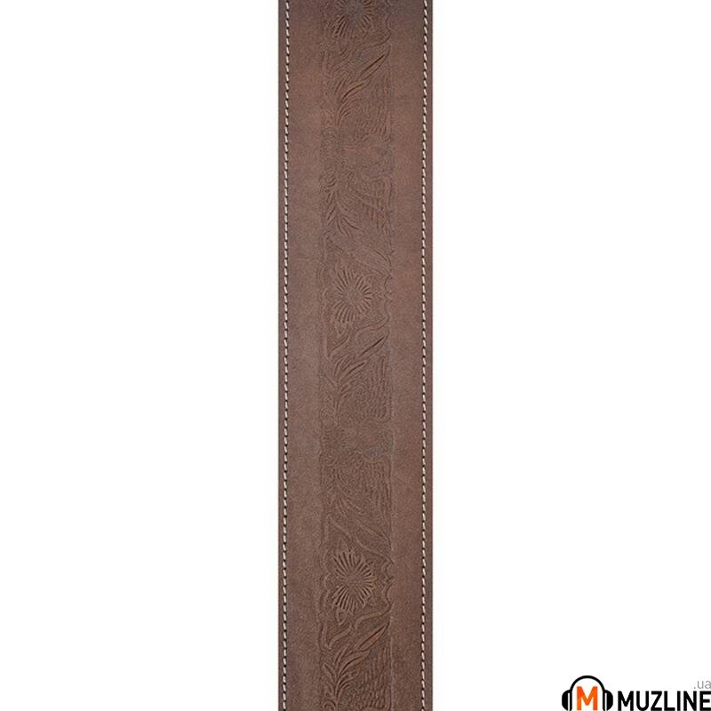 Planet Waves PW25WSTE01 Western Eagle Embossed Leather Guitar Strap, Brown