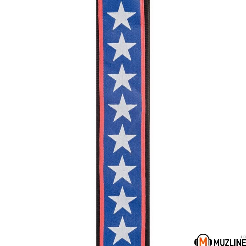 Planet Waves PW50A10 Woven Guitar Strap, Stars & Stripes