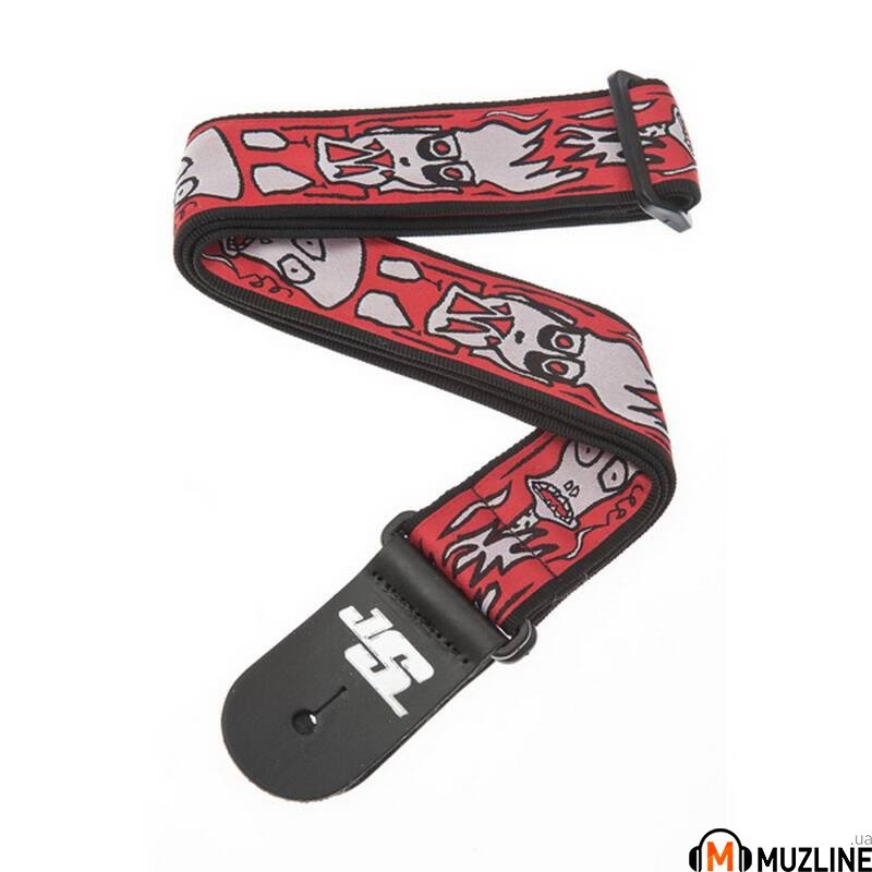 Planet Waves PW50JS02 Joe Satriani Guitar Strap Up in Flames