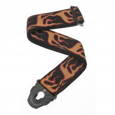Planet Waves PW50PLA01 Planet Lock Guitar Strap, Flames