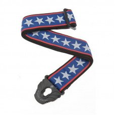 Planet Waves PW50PLA10 Planet Lock Guitar Strap, Stars & Stripes